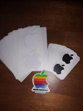 Apple Mac LOT of 37 Apple/Mac Stickers White, Black, Rainbow (Vintage)
