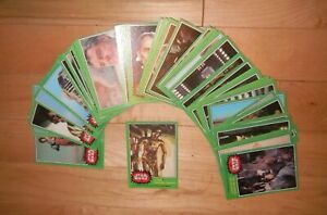 1977 Topps Star Wars Series 4 Green Trading Cards Singles Complete Your Set EX+