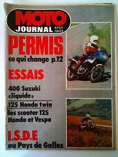 >N°622 MOTO JOURNAL  I.S.D.E Pays de Galles/ 400 Suzuki