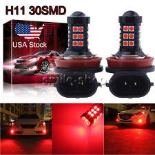 H11 H8 H9 H16 3030 30SMD LED Fog Light Bulb Conversion Kit Upgrade Super Red US