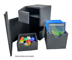 Arkero-G 100+ Flip & Tray Deck Case Black XenoSkin Karten Box z.B. Magic Pokemon