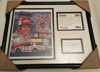 Sam Bass Print, Bobby Allison 22, Signed, Authentic Nascar, Maxx Race Cards