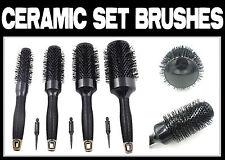 Set Alunimium Ceramic Hair Round Brushes Rubber Handle Hair Blow Dry Brush