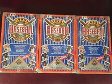 Lot Of 3 1992 UPPER DECK Low Sealed Baseball Boxes TED WILLIAMS From Case MLB