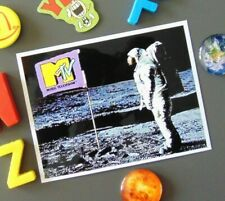 Funny MTV Cable Channel Fridge MAGNET Moon Landing Flag Astronaut New House Gift