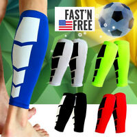 New Compression Calf Sleeve Sports Running Leg Foot Support Brace Shin Socks OB