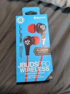 JLab JBuds Pro Bluetooth Wireless Signature Earbuds - Red