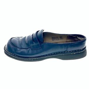 Cherokee Womens Leather Closed Toe Blue Slip On Casual Shoes Size 6.5