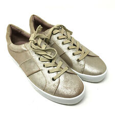 Joie Womens Sneakers Dakota Rose Gold Metallic Leather Lace Up Shoes Sz 38.5 8.5