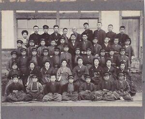 OLD VINTAGE PHOTO MEN WOMEN KIMONO CHILDREN BOY UNIFORM ASIA JAPAN JAPANESE BX1