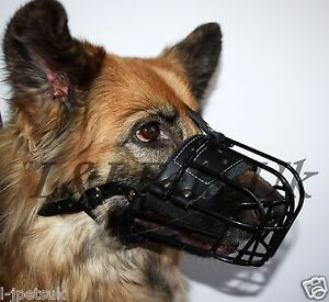 New Strong Metal  Wire Rubber Covered Basket Dog Muzzle German Shepherd