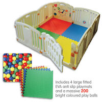 ALL STARS Baby Playpen Fun Activity Panel 8pc's Non-Toxic Materials