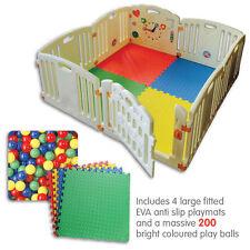 ALL STARS Baby Playpen | Fun Activity Panel | 8pc's | Non-Toxic Materials