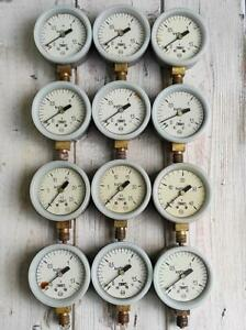 Vintage USSR Manometers.Rescue.Salvage.Industrial Steampunk Decor.Set of 3.#2.