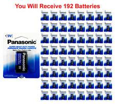192x Panasonic Heavy Duty 9 Volt Batteries Wholesale Lot 9V Carbon Zinc 9V1 x192