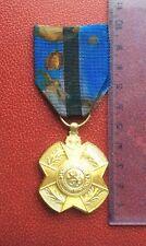 Belgique - Très Jolie médaille d'or bilingue de L'Ordre de Léopold II