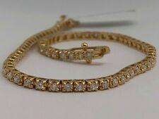 18ct YELLOW GOLD 1.25CT DIAMOND TENNIS BRACELET GOY772