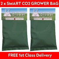 2 x Smart Organic CO2 Generator Bags Hydroponic Grow Area (5-15) Metres Squared