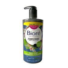 New Biore Deep Pore Charcoal Cleanser Japanese Beauty Design 11.45 FL oz Value