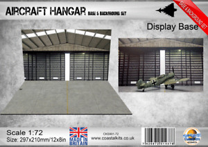 Coastal Kits 1:72 Scale Aircraft Hangar Base & Background set