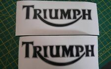****2 X TRIUMPH TANK STICKERS/DECALS  BIKE DECAL**black/silver 2 colour