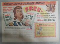 Kellogg's Cereal Ad: Corn Flakes Indian Summer  from 1942 Size: 11 x 15 inches
