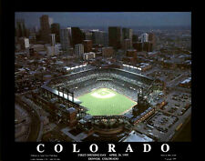 Coors Field Colorado Rockies OPENING DAY (1995) Aerial View Premium Poster Print