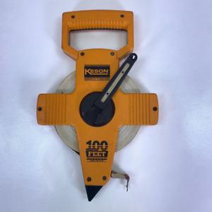 Keson Measuring Tapes Rulers Engineers Retractable Winding Orange OTR-18-100