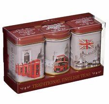 New English Tés Tradicional Inglés Tés en Mini Cajas de Lata que Representan