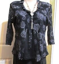 Millers black blue & white Blouse 3/4 sleeved plus size 22
