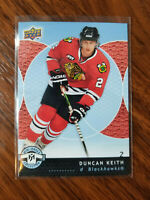 2007-08 upper deck mini jersey card #24 Duncan Keith Chicago 2nd year