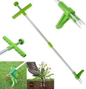 Steel Weed Puller Weeder Garden Lawn Root Remover Long Handled Lightweight Tool