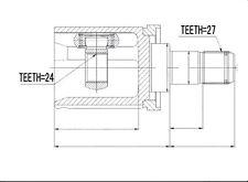 Rótula Interior Kit de Eje Transmisión Conjunta Izquierda BMW X3 (E83) 2.0d 2.5