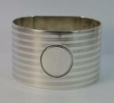 Heavy Solid Silver Engine Turned Napkin Ring