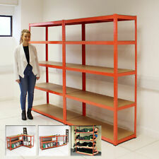 Wido NEW EXTRA WIDE 120CM 5 TIER HEAVY DUTY METAL INDUSTRIAL SHELVING RACKING