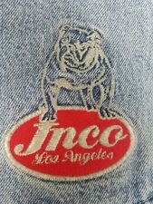 rare vintage 90s Jnco Big Rig Wide Leg Blue Jeans 36w 32l made in the usa!