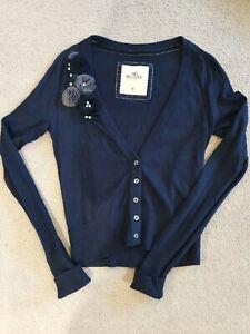 Hollister Womens Medium Navy Cardigan