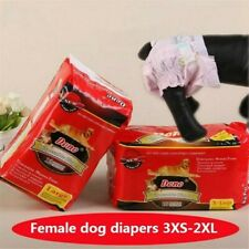 Female Dog puppy Belly Wrap Band Diaper Nappy Sanitary Pants Underpants 3XS-2XL