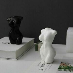 Ceramic Nude Art Female Body Vase Flower Arrangement Pot Women Statues Decor