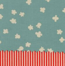 POPCORN IN LIGHT BLUE Border Print HALF YARD Panel PENNY ARCADE Cotton + Steel