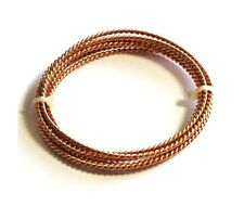 Bronze Fancy Twisted Wire (18 Ga) 10 Ft Coil - See Description / Made In USA #24