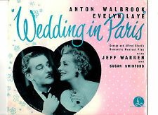 "S/TRACK.WEDDING IN PARIS.JEFF WARREN/SUSAN SWINFORD.UK ORIG 10"" LP+INN/SL.VG+/EX"