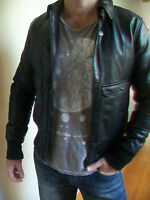 MENS G STAR 'HAWKE FLIGHT BOMBER' LEATHER JACKET RRP $850 - BNWT - SIZE M