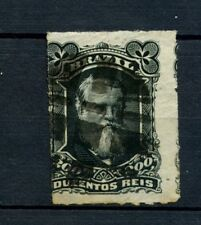 Brazil 1878-9 SG#62 200R Emperor Pedro II Rouletted Used #A22873