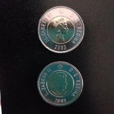 2003 Canada Toonie 2 Dollar Old Effigy Crowned New Effigy UnCrowned Set