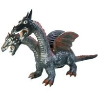 "Two Headed Dragon 11"" Tall Soft Rubber Figure Toy Major Trading Co Ltd 20"" Long"