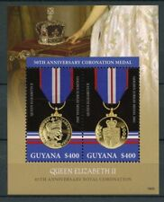 Guyana 2018 MNH Queen Elizabeth II Coronation 65th Ann 2v S/S III Royalty Stamps
