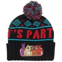 Five Nights at Freddy's Beanie Hat Winter Warm IT'S PARTY TIME Black Game Fox