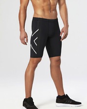 2XU Men's Hyoptik Compression Shorts - LARGE- Black/Silver (70% off MSRP)