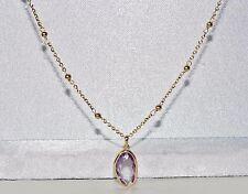 9ct Oro Giallo 2.50ct Ametista Collana Donna Fantasia-mozzafiato di qualità